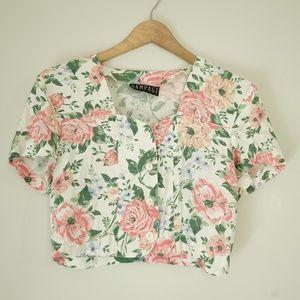 Vintage Floral Crop Top